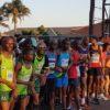 David Mania and Irvette van Zyl won the Dischem Half Marathon in Bedfordview, Johannesburg, today.
