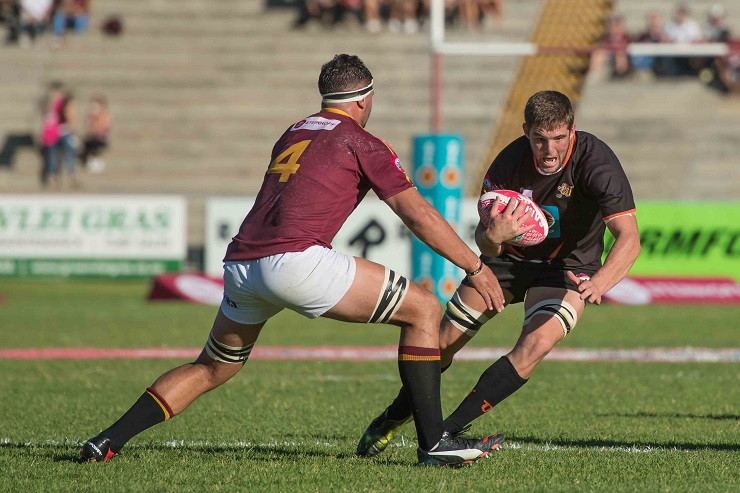 Adriaan Bester from the University of Johannesburg rugby team