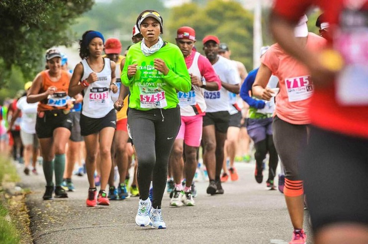 Pictured here are some runners in action during the 2018 Pick n Pay Marathon.