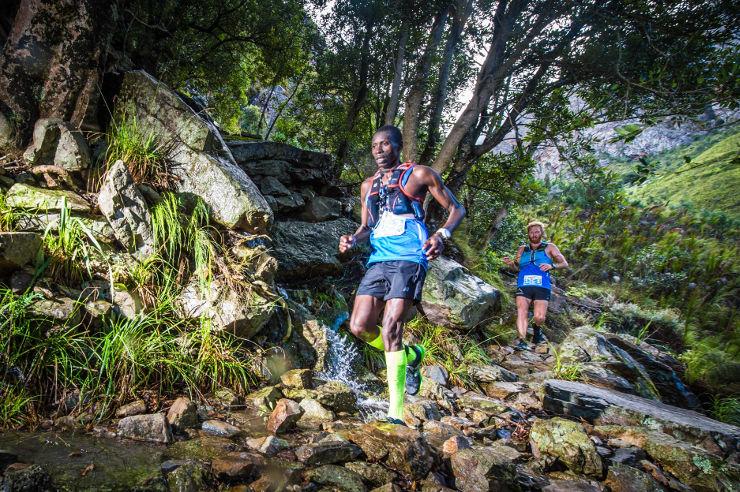Bernard Rukadza and AJ Calitz day one of AfricanX Trailrun