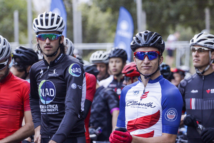 Matt Beers and HB Kruger before stage two of the Winelands Encounter.