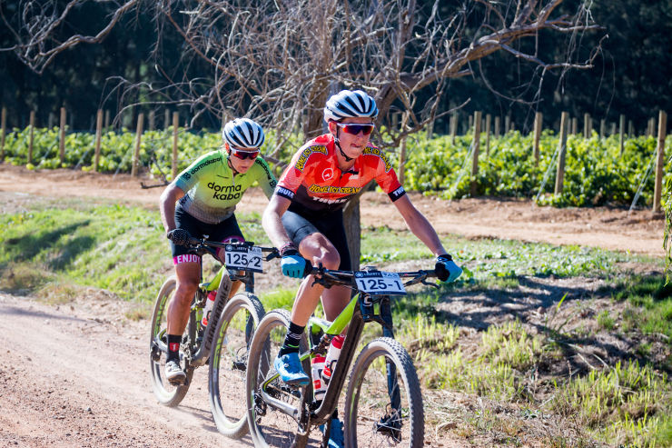 Matthew Stamatis (front) and Samantha Sanders during the Winelands Encounter stage three