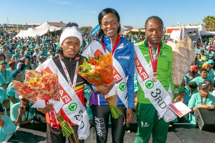 SPAR Women's Challenge race in PE podium