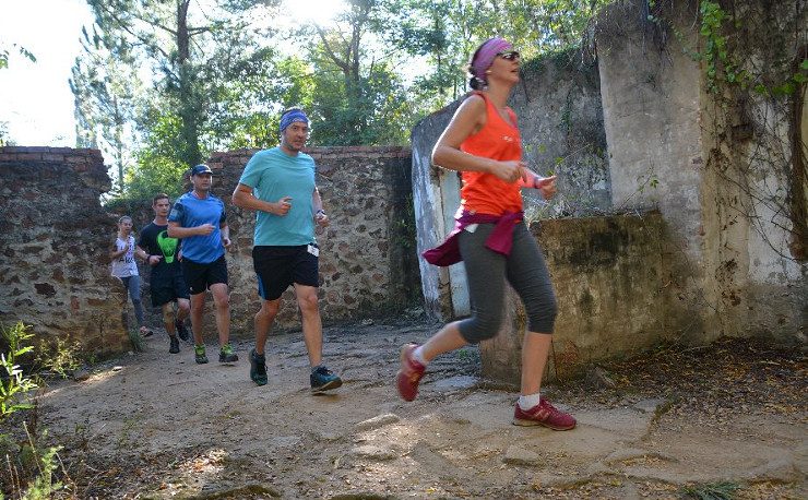 Rosemary Hill Trail Run action 2017