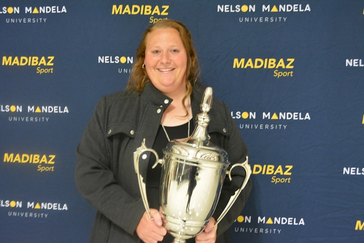 South African shot put and discus star Ischke Senekal was chosen as Sportswoman of the Year at the Madibaz Sport awards