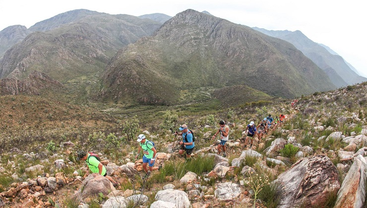 Trail runners in action during stage one of last year's Dryland Traverse