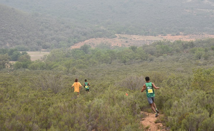 Runners in action during the final stage of the Dryland Traverse at the weekend. Photo: ZC Marketing Consulting