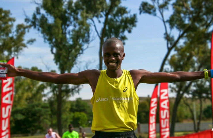 Givemore Mudzinganyama and Poppy Mlembo won the respective men's and women's 21km feature of the TrailSeekerGP4 Trail Run Cullinan at the weekend. Photo: Facebook/Nissan Trailseeker