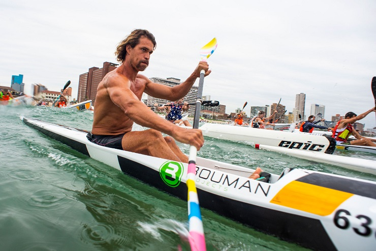 Matt Bouman won the Gara Surfski Challenge