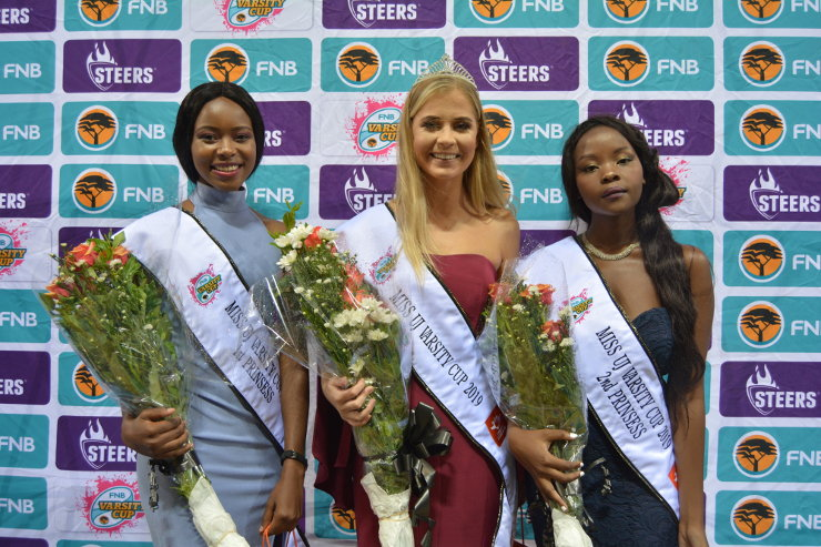 2019 Miss UJ Varsity Cup top three