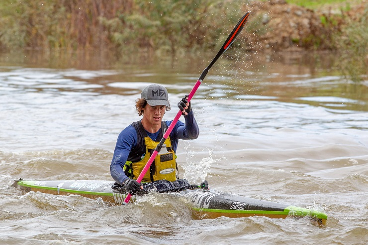 Hamish Lovemore (pictured) and Tyron Maher took the Berg River Canoe Marathon