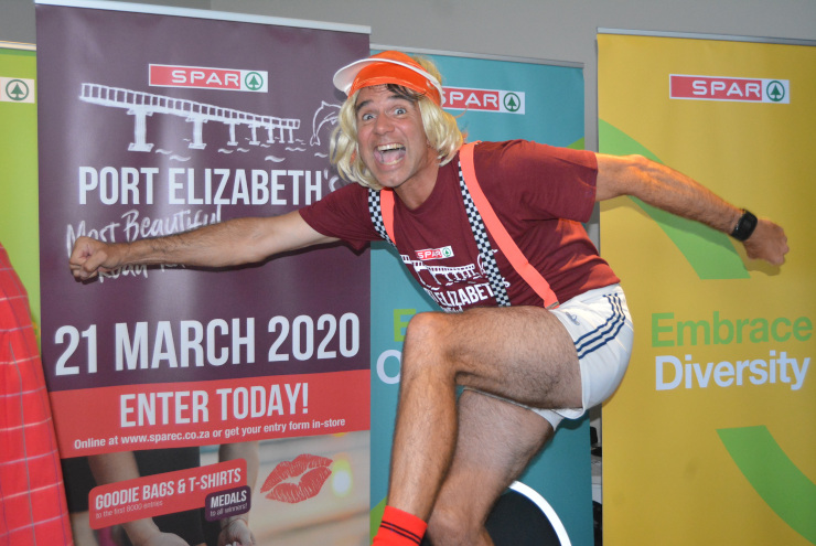 Comedian Gino Fabbri, and his alter ego Clyde Smithers, are ready to have a blast when they entertain the thousands of runners at the SPAR Women's Challenge
