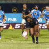 FNB Madibaz hooker Temba Boltina prepares to control possession during a match in the Varsity Shield last year.